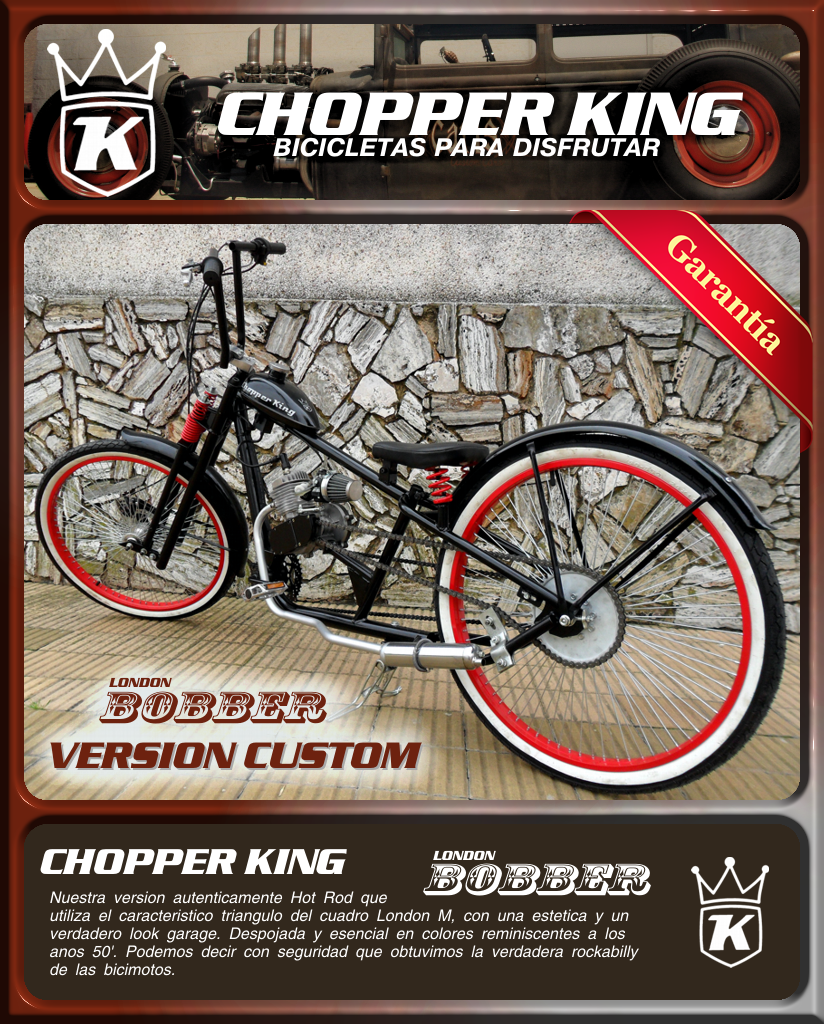 Chopper king london bobber custom